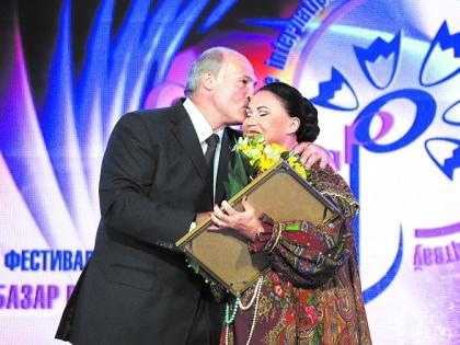 Александр Лукашенко и Надежда Бабкина