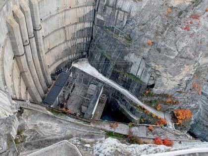 Водоводы и шахта Чиркейской ГЭС