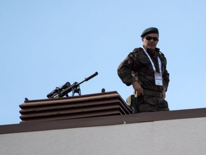 Снайпер в Белеке охраняет высоких лиц