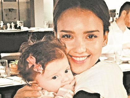 Джессика Альба с дочерью