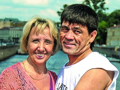 Баймурат Аллабердиев с женой Людмилой
