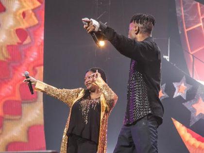 Boney M во время выступления в Москве