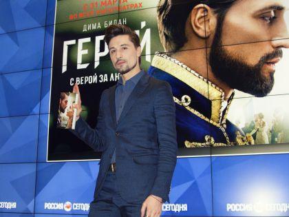 Дима Билан на презентации фильма «Герой»