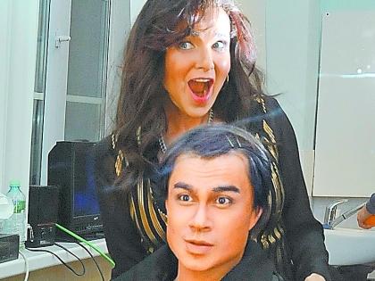 Эвелина Блёданс с Александром Рыбаком