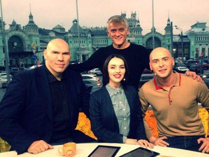 С Николаем Валуевым, Александром Маршалом и Антоном Привольновым