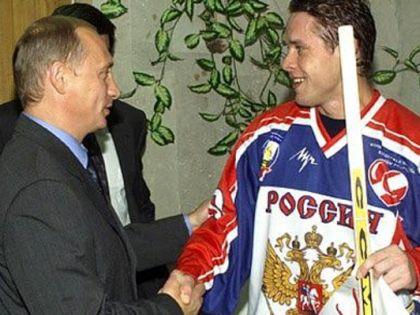 Владимир Путин и Павел Буре в 2001 году