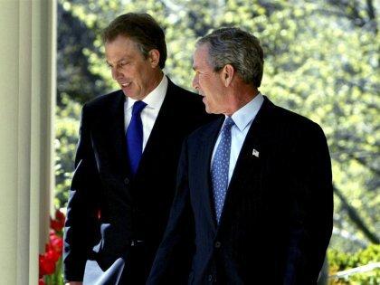 Джордж Буш – младший и Тони Блэр