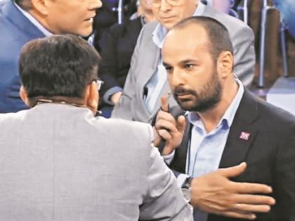 Багиров и Долгов за несколько мгновений до драки