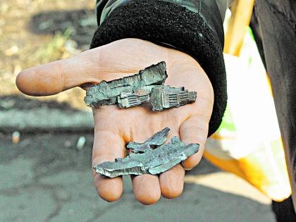 Осколки боевых снарядов на Донбассе