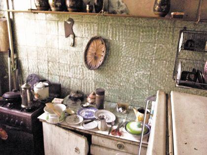 Кухня в квартире Александра Демьяненко