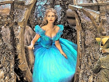 Лили джеймс в платье золушки