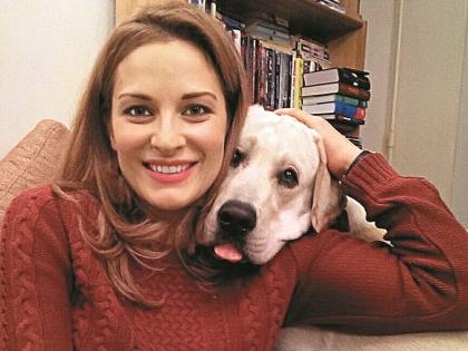 Нина Гогаева с любимой собакой