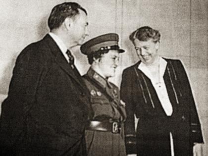 Людмила Павличенко и Элеонора Рузвельт