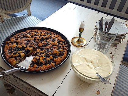 Черничный пирог в антикварном кафе Фискарса