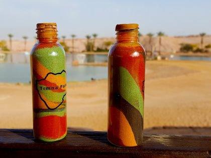 Бутылочка с разноцветным песком - на память о Тимне