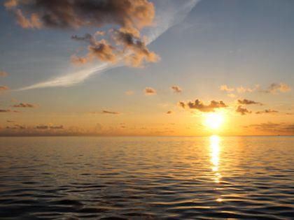 За полчаса небо и вода поменяют свой цвет несколько десятков раз