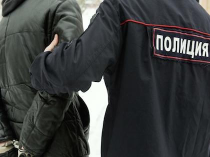 Задержанные были доставлены в отделение полиции