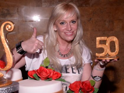 Наталья Гулькина на праздновании своего 50-летия