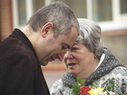 Михаил Ходорковский с мамой