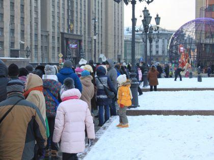 Как в Москве делили пирог-гигант