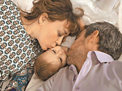 Губанов с женой Ларисой и дочерью Катей