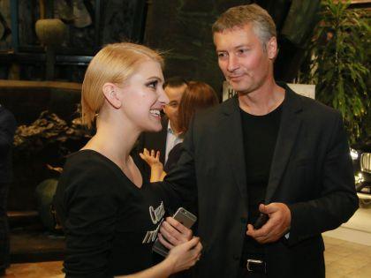 Леся Рябцева и Евгений Ройзман на дне рождения «Эха Москвы»