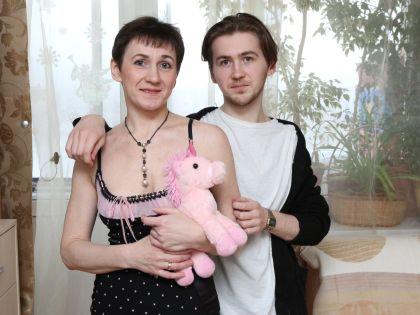 Грета с сыном