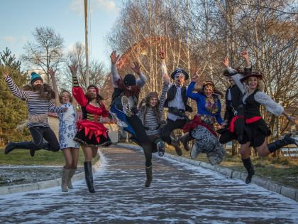 Пираты Серебряного Бора могут не только быстро грести, но и высоко прыгать