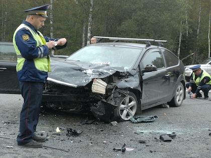 20 апреля в автомобиль Владимира Сивковича врезался другой автомобиль