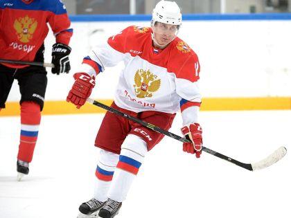 Владимир Путин во время тренировки