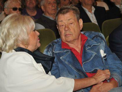 Николай Караченцов с женой Людмилой Поргиной