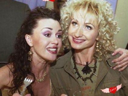 С Анастасией Заворотнюк на съемках «Моей прекрасной няни»