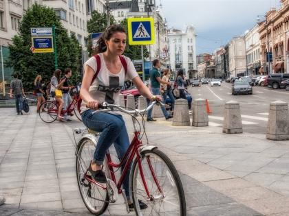 Велодорожка на Бульварном кольце