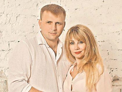Алексей Лаврентьев с женой