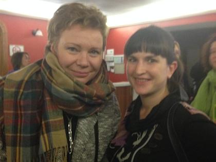 Ведущая «Эха Москвы» Ксения Ларина и журналистка «Собеседника»