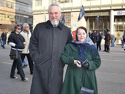 Андрей Зубов с женой