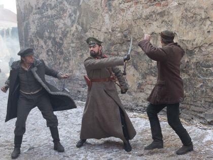 Дима Билан на съемках фильма «Герой»