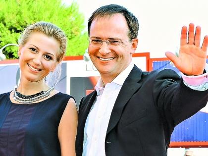 Мединский с женой