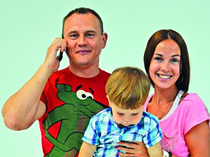 Степан Меньщиков со своей семьей