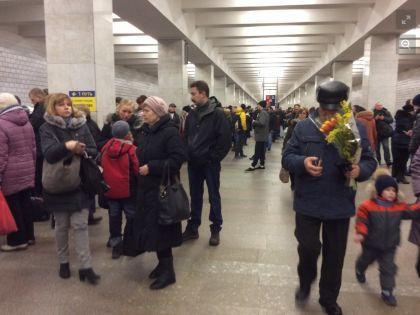 """На станции """"Беляево"""" в районе 15:30"""