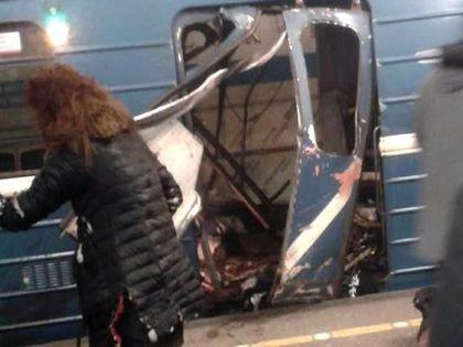 Вагон поезда петербургского метро, в котором сработало взрывное устройство
