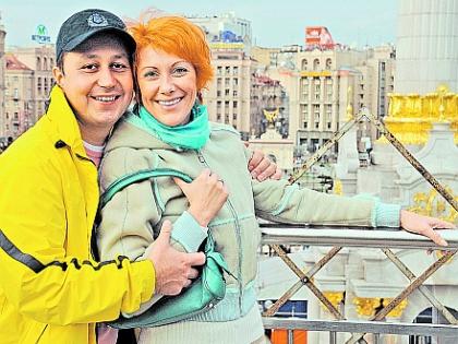 Оксана Сташенко с мужем