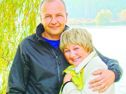 Людмила Мызникова с сыном Игорем
