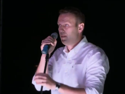 Алексей Навальный на митинге в Марьино