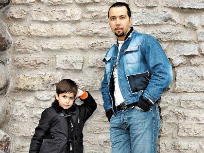 Денис Клявер с сыном Тимофеем