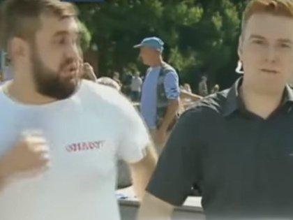 Дебошир, ударивший корреспондента НТВ во время прямого включения из парка им. Горького в День ВДВ, воевал добровольцем в Донбассе
