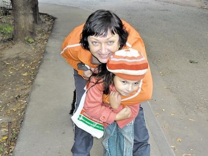 Светлана Попова с дочерью Лизой
