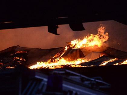 Площадь возгорания составила 120 кв. м