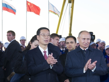 Владимир Путин и Чжан Гаоли