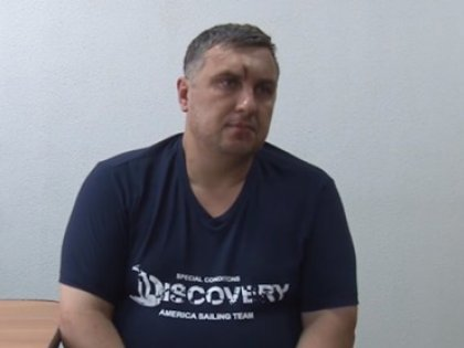 Один из задержанных в Крыму украинских диверсантов во время допроса